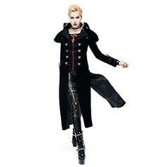 Gothic Palace Women Long Jacket Coats Steampunk 2017 Autumn Winter Coat