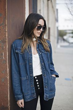 Denim on Denim Los Angeles Fashion Blogger | Thrifts and Threads