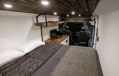 Native Campervans just introduced a new campervan called The Biggie! It's a 2016 ProMaster built out camper van for two with a queen-sized bed, full kitchen, fridge and big gear storage nook. Queen Memory Foam Mattress, Queen Mattress, Best Mattress, Queen Size Bedding, Van Camping, Camping Gear, Camping Cabins, Camping Checklist, Beach Camping