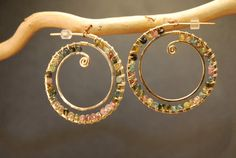 Cleopatra 95 Hammered hoops wrapped with by CalicoJunoJewelry, $120.00