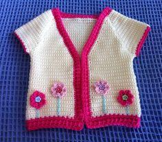 Gorgeous Crocheted Girls Flower Cardi/Jacket 2-4 yrs