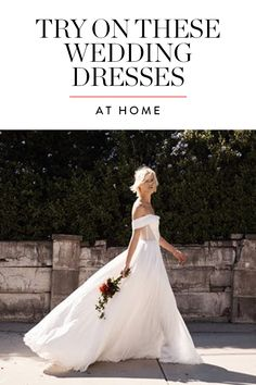 Major: You Can Now Try on Wedding Dresses at Home via @PureWow