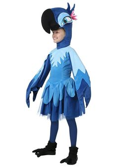 Nice TV / Movie Costumes - Child Rio Jewel Costume just added. Halloween Costumes For Teens, Halloween Party, Children Costumes, Halloween 2016, Movie Costumes, Cosplay Costumes, Blue Macaw, Bird Costume, Cartoon Outfits