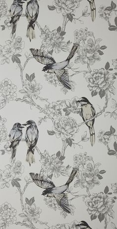 Songbird - Dove wallpaper, from the Maison Wallpapers collection by Prestigious Textiles