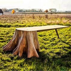 Completed over 8 months, the piece exemplifies the beauty of a tree stump where product designer thomas de lussac has shown each stage of the craft to form the 'racine carré table'.