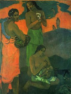 Paul Gauguin (1848-1903) painted Women on the Edge of the Sea (also known as Maternity I) in 1899