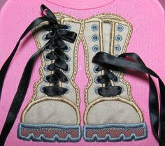 Combat Boots In The Hoop Machine Embroidery designs by artapli