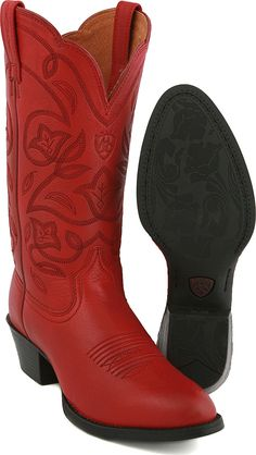 On Hold Vintage RED Western Boots - CowGirl Chic - Classic Stitch