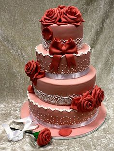 wedding cakes 2 tier How To Make Wedding Cake Red, Beautiful Wedding Cakes, Gorgeous Cakes, Wedding Cake Designs, Pretty Cakes, Cute Cakes, Amazing Cakes, Purple Wedding, Unique Cakes