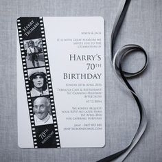 Film Strip 70th Birthday - can be made for any age