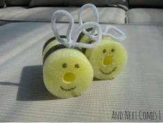 Awww, how cute for summer! Pool Noodle Bumblebees