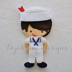 Sailor Boy Felt Non Paper Doll Embroidery Design