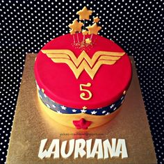 Wonder Woman Made this Wonder Woman themed cake for Lauriana's 5th birthday last weekend. Had fun making this cake because it's...