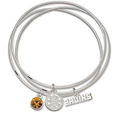 NHL Boston Bruins Triple Bangle Bracelet  http://electmejewellery.com/jewelry/novelty-jewelry/nhl-boston-bruins-triple-bangle-bracelet-com/