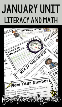Celebrate New Years, Martin Luther King Jr. Day, and the 100th day in this easy no prep mini unit! This unit is geared towards 2nd graders, but can also be used for talented first graders or third graders who may be struggling a bit. This product is meant to be a time saver. Just print!