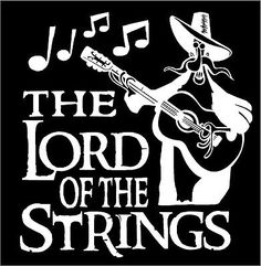 Guitar-Decal-Lord-Of-The-Strings-Car-Truck-Music-Country-Bluegrass-Vinyl-Sticker