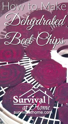 Learning how to make dehydrated beet chips will help you preserve your harvest, expand your emergency food storage, and provide a delicious healthy snack! Beet Recipes, Canning Recipes, Raw Food Recipes, Jerky Recipes, Freezer Recipes, Freezer Cooking, Food Tips, Drink Recipes, Food Hacks