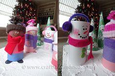 Cardboard Tube Children & Snowmen