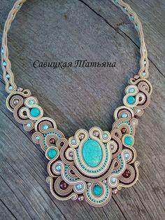 Soutache Statement Oriental Necklace Soutache by MagicalSoutache