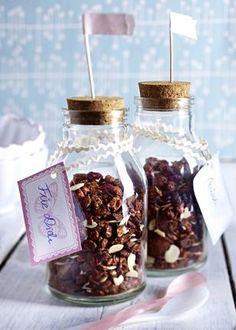 Schokoladen-Cranberry-Granola (Knusper-Müsli)