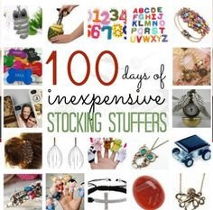 100 days of inexpensive stocking stuffers!  There are already so many to grab now!