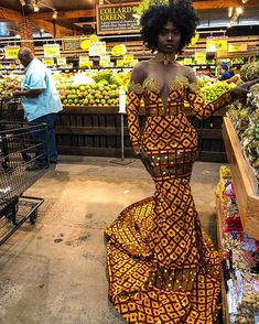 African print gown - Women's style: Patterns of sustainability African Prom Dresses, Ankara Dress Styles, African Wedding Dress, Latest African Fashion Dresses, Ghana Wedding Dress, African Attire, African Wear, African Dress, African Outfits