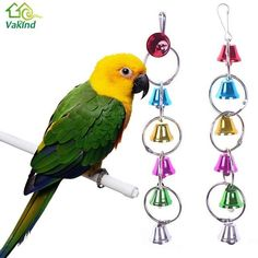 Bird Supplies Pet Products Lovely Colorful Hanging Bell Pet Bird Toys Chew Parrot Ringer Hanging Swing Cage Toy For Cockatiel Parakeet Pet Bird Supplies To Reduce Body Weight And Prolong Life