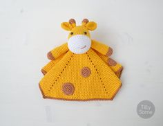 Instant download - --- This listing is only a PDF PATTERN, not a finished product --- Cute Giraffe Lovey is a plush toy and security blanket all in one! Its perfect for babys little hands and will surely become a friend for your baby. You can create something really special for your