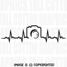 Photography Heartbeat Camera Vinyl Decal JB050 by DGFGRAPHICS
