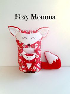 Red Fox pillow  Fox Pillow   Foxy Momma and by MarysDreamStudio