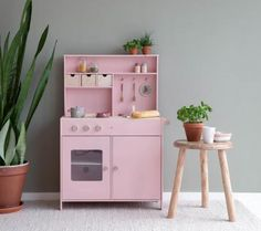 Kinderspielküche, rosa Play Kitchens, Pink Play Kitchen, Wooden Toy Kitchen, Wooden Toys, Dutch Kitchen, O Gas, Cook Up A Storm, Design Floral, Oven Glove