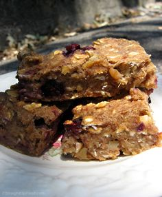 Banana Blueberry Bars - E2 compliant