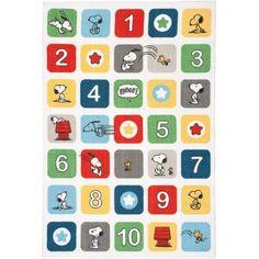 Peanuts Numbers Area Rug by Nourison, Multi-Color, Multicolor