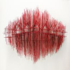 New Architectural Sculptures by David Moreno Appear As Three Dimensional Drawings Sculpture Ornementale, Sculptures Sur Fil, Modern Sculpture, Wire Sculptures, David Moreno, Colour Architecture, Architecture Sketches, Drawing Architecture, Architectural Sculpture