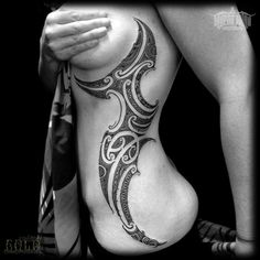 Maori Inspired Rib Tattoo | Best tattoo design ideas