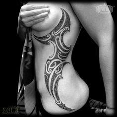 Maori Inspired Rib Tattoo | Best tattoo design ideas