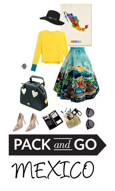 """""""pack and go : mexico!"""" by chintyar ❤ liked on Polyvore featuring Trademark Fine Art, Roksanda Ilincic, Manolo Blahnik, Moschino, Topshop, Royce Leather, Yves Saint Laurent and Packandgo"""