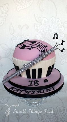 Made for my son's School Cake sale. Music Cupcakes, 18th Birthday Cake, Birthday Music, Bithday Cake, Piano Cakes, Giant Cupcake Cakes, School Cake, Cake Decorating Supplies, Occasion Cakes