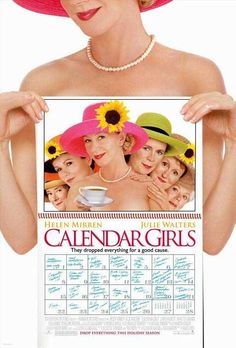 Calendar Girls is a 2003 comedy film  based on a true story of a group of Yorkshire (UK)  women who produced a nude calendar to raise money for Leukaemia Research, the film was made about 14 years ago and it is as fresh today as it was back in the days , oh how time flies, if you get a chance get hold of this movie and I guarantee you will enjoy this British comedy.   You can't go wrong when the likes of Helen Mirren and Julie Walters, in film with other fine British actresses.