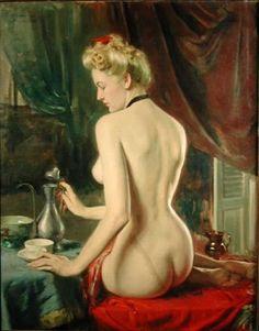 'Drinking Tea' - Henrique Medina de Barros (1946)