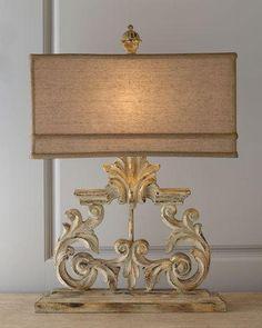 H6L1G Golden Harp Table Lamp