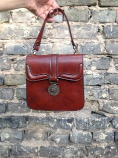 Vintage Brown Leather Bag by RollingClothes on Etsy, $28.00