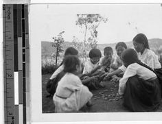 """""""Girls playing marbles, Masan, Korea, ca. 1920-1940"""" [toss and catch pebbles game, like jacks] :: Maryknoll Mission Photography Archive, USC. (high res and more at site)"""