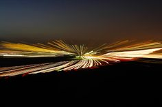 Abstract Blurred Lights From the Freeway