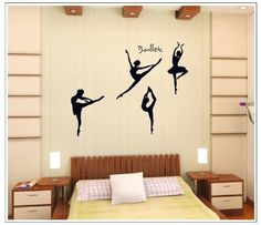 OneHouse Four Girls Perform Ballet DIY Wall Decal Super f…