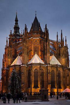 Catedral de Sao Vitus, Castelo de Praga, Republica Tcheca.
