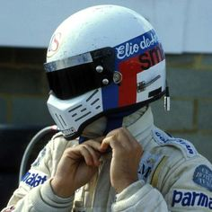 Elio de Angelis, Shadow-Ford 1979 World Championship Le Mans, Parma, Simpson Helmets, Car Pictures, Photos, F1 Motor, Helmet Head, Helmet Paint, Lotus Car