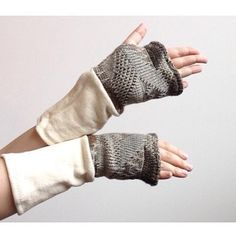 Warm and cozy arms and wrists.  http://ift.tt/1Q6laZi  #handmadearmwarmers #fingerlessgloves #writinggloves #staywarm #organiccottongloves #ecogift