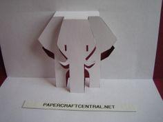 Kirigami Paper Cut Art Decoupage African Elephant