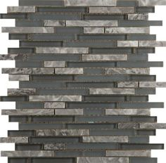 """Emser Tile & Natural Stone: Ceramic and Porcelain Tiles, Mosaics, Glass Tiles, Natural Stone: Lucente Stone Blends Linear Stone Blends On 12""""x13"""" Mesh , Concordia"""